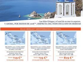 NAVEGA POR ISLAS GRIEGAS Y MEDITERRANEO ORIENTAL (VUELOS INCLUIDOS)