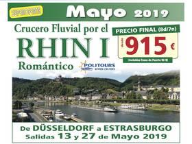 CRUCERO FLUVIAL POR EL RHIN - MAYO